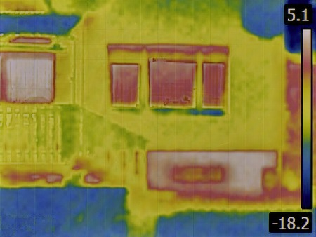 heat loss: Thermal Image of a Heat Loss from Basement