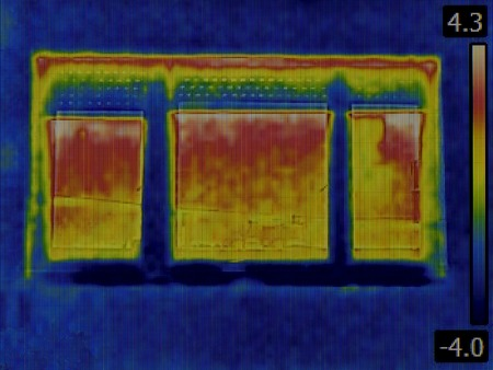 thermogram: Thermal Image of a Heat Loss through Window