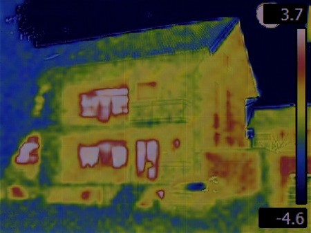 heat radiation: Thermal Image of the House