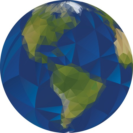 Illustration of Low Poly World Vector