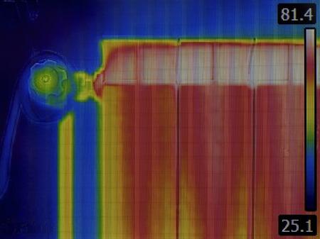 thermal image: Radiator Heater Infrared Thermal Image