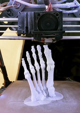 3D-Druckmodell Menschlicher Fuß Knochen