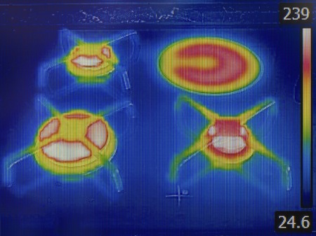 thermogram: Gas Burner Plate Infra Red