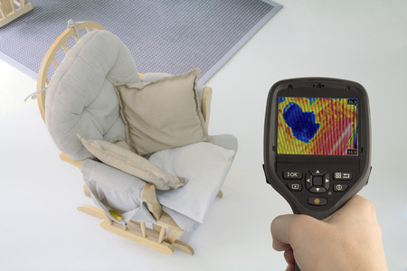 Checking Underfloor Heating with Infrared Camera photo