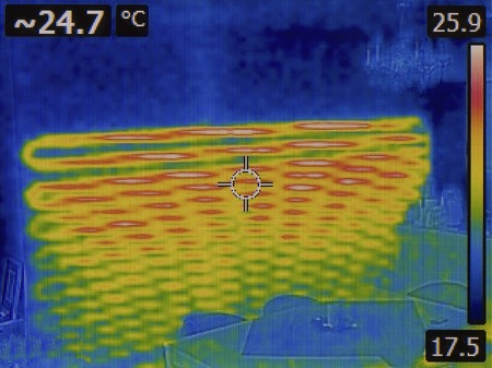 warmness: Under Wall Heating System Infrared Stock Photo