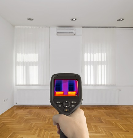 thermography: Radiator Heater Infrared Thermal Image