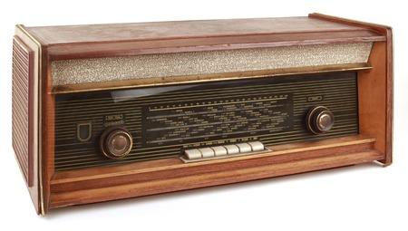 tuner: Vintage Radio Tuner Isolated on White Background Stock Photo