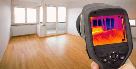 thermogram: Thermal Image of Heat Leak thru Windows