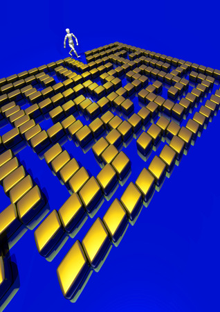 way out: Find way out from that Golden 3D maze