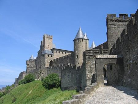 ufortyfikować: Poza widzenia średniowiecznego miasta Carcassonne w południowej Francji