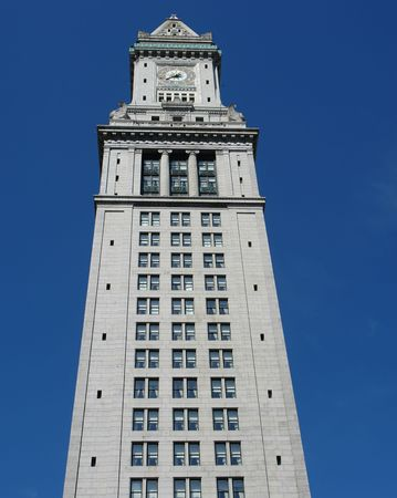 The custom house on a clear spring day in Boston Massachusetts. photo