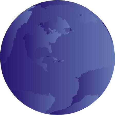 Blue gradient globe illustration of planet earth globe. Stock Vector - 4077405