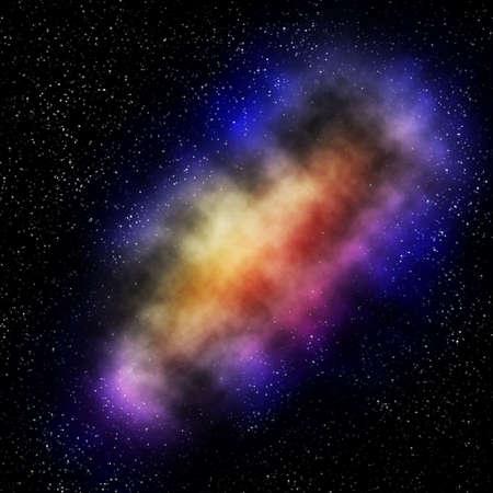 Infinity galaxy with many stars photo