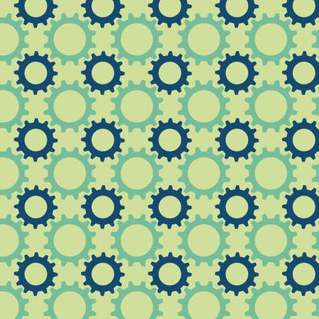 Seamless pattern from multicolored gears Vector