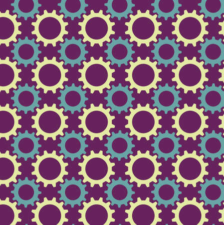 Seamless pattern from multicolored gears