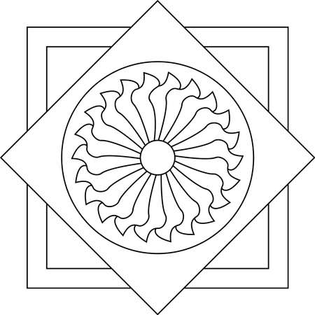 Outlines of floral stained glass Illustration