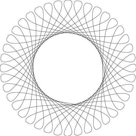 Spirograph pattern frame on a white background Vector