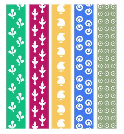 Set of vector indian print ornament,pattern border