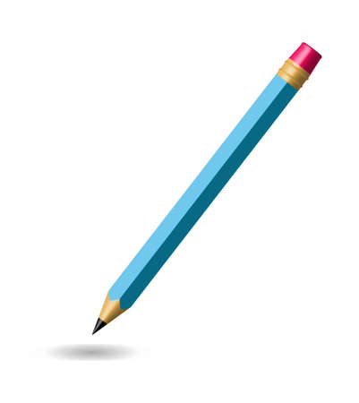 Pencil isolated on white background Illustration
