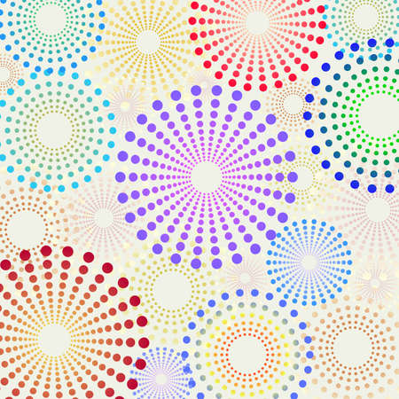 Vector seamless retro fun dotted circles pattern
