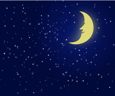 Illustration of a night sky with fantastic moon Stock Vector - 4518545