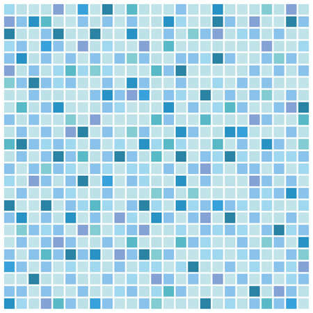 Blue mosaic background Vector