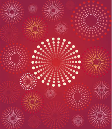 Red flower retro background Illustration