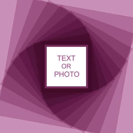 photo artistique: Violet spirale cadre