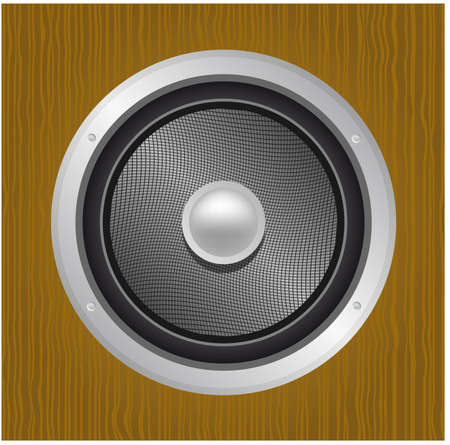Audio speaker in wood Stock Vector - 4654745