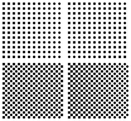 Set of halftone seamless vector background Vector