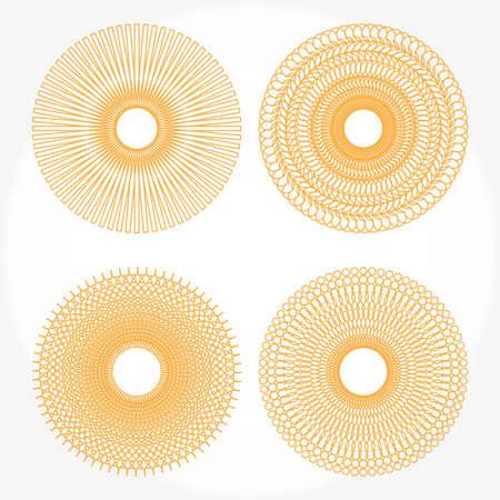 oscillation: Spirograph pautas sobre fondo blanco