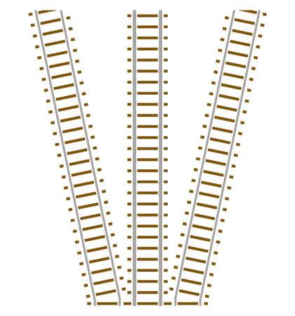 Set of railway track Stock Vector - 4715325