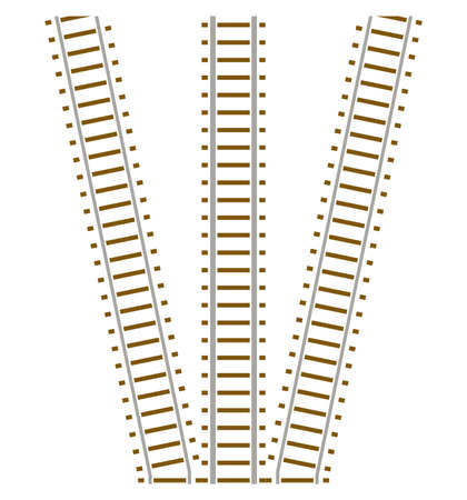 Set of railway track Stock Vector - 4715325