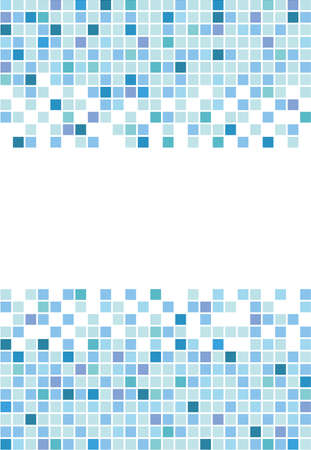 Marine square vector mosaic background Vector
