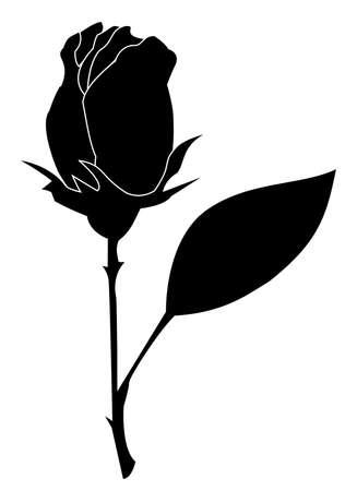 Rose element for design Vector