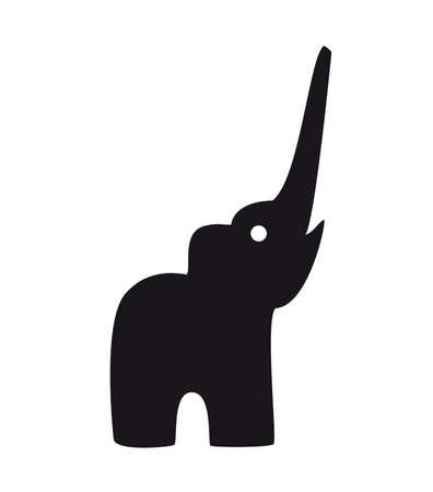 siluetas de elefantes: Elefante beb� tatuaje