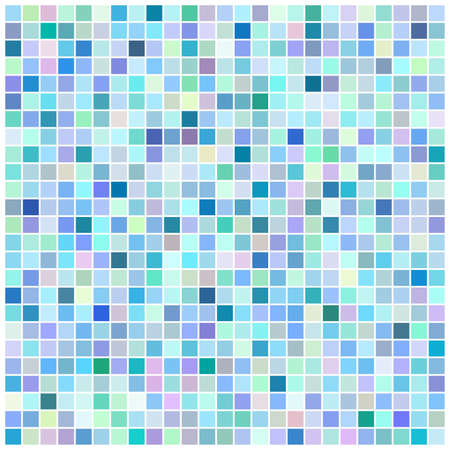 Square blue mosaic background Vector