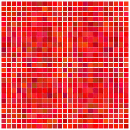 Square vector red mosaic background Vector