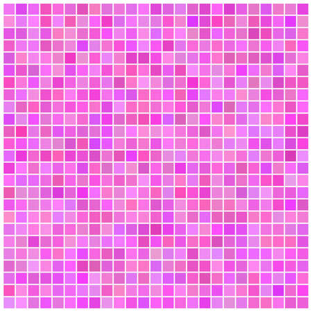 Square vector pink mosaic background Vector