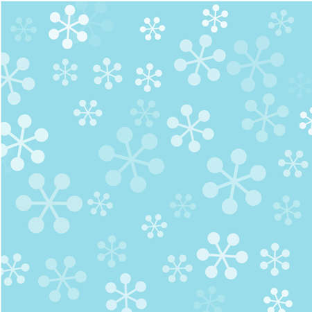 bedclothes: Background with vector snowflakes Illustration