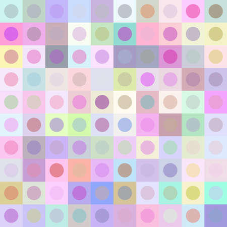 Retro multicolored circle pattern