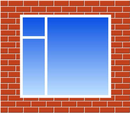 cemented: Ventana en la pared