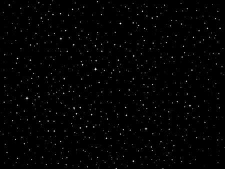 sterrenhemel: Sterren nachthemel Stock Illustratie