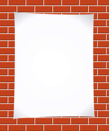 carta da lettere: Carta su brickwall