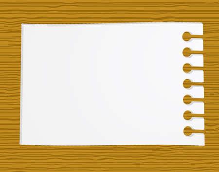 carta da lettere: Intestata su legno  Vettoriali