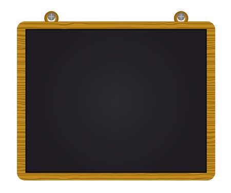 teching: Wood blackboard