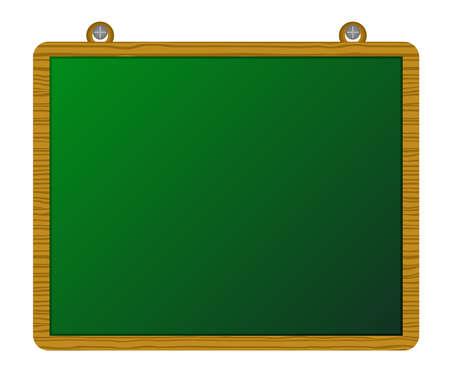 greenboard: Wood greenboard Illustration