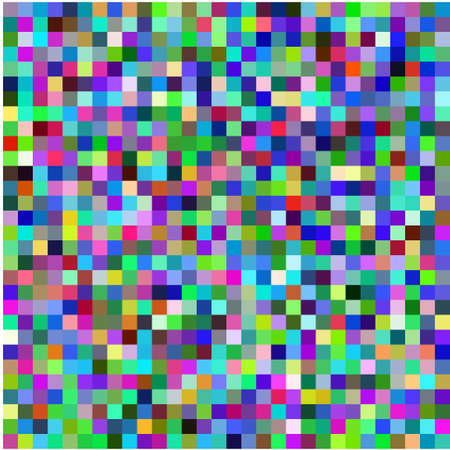 Retro pixel multicolored abstract pattern Illustration
