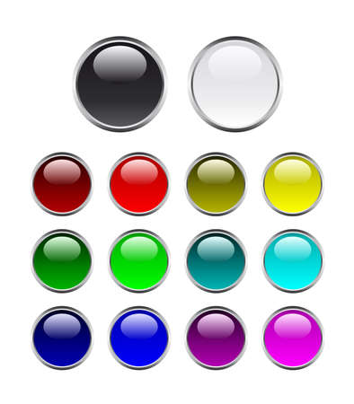 Set of buttons on white background Stock Vector - 5775071