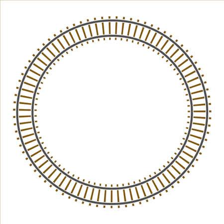 train track: Infinity circle train railway track